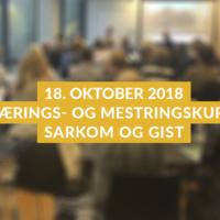 Mestringskurs Sarkom GIST_høst 2018