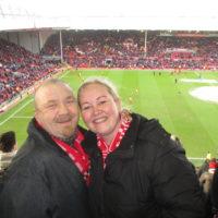 Her er Per Håkon og jeg på kjærestetur i Liverpool i 2015.